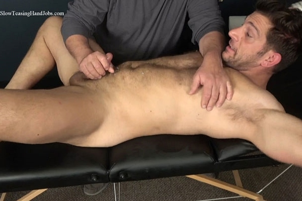 Masculine straight beefcake, Italian muscle hunk Markey gets slowly teased, stroked and jerked off by master Rich in Markey Jerked Off and Milked at Slowteasinghandjobs