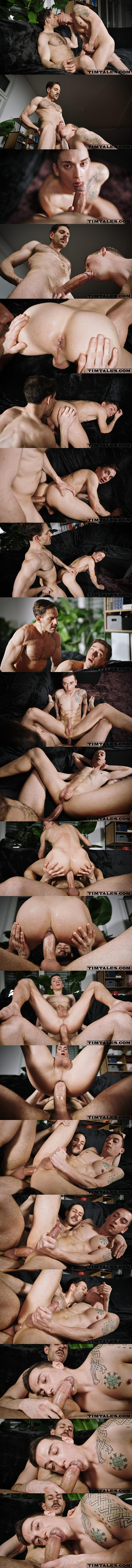 Thick-cocked Brazilian power top Mario Galeno barebacks German twink bottom Michl Amundson in different positions until he fucks the cum out of Michl at Timtales 01