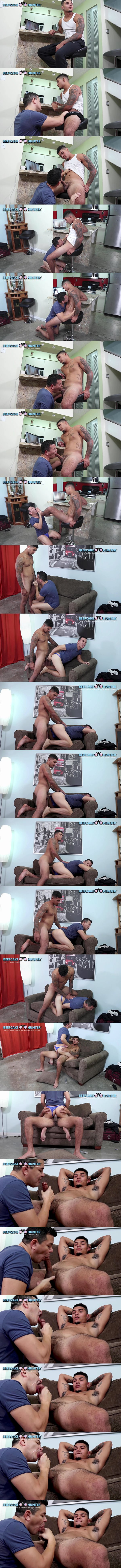 Masculine straight beefcake, construction worker Kameroon fucks Victor in doggy and cowboy style before Victor jerks Kameroon off in Kameroon Magic Ride at Beefcakehunter 01