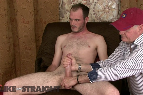 Brendon Marley strokes and sucks big-cocked straight dude Tyson before he milks a juicy load out of Tyson's hard boner in Cream Dreams at Like-em-straight