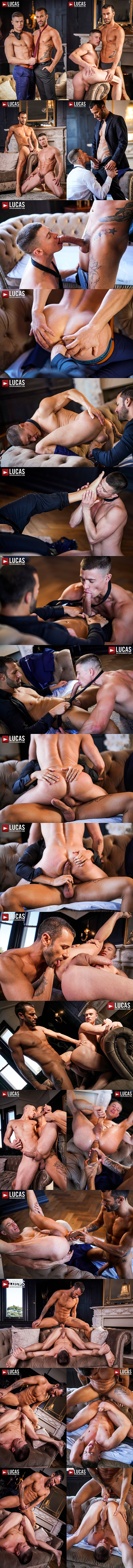 Handsome Spanish dude Gustavo Cruz barebacks jock bottom Ruslan Angelo before he fucks the cum out of Ruslan and breeds him in Gentlemen 30 Sweating Some Overtime at Lucasentertainment 01