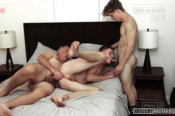 Daddy Clay barebacks cute twink Malachi Rayne and Patrick Raposa in an older younger threeway before he breeds Malachi in Daddy's Young Hotties at Raunchybastards