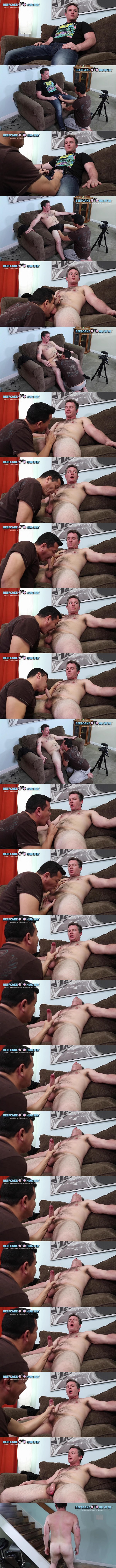 Hot newcomer, stocky straight uber driver Craig gets sucked and serviced by Victor until Victor jerks Craig off in Edging Uber Driver Craig at Beefcakehunter 01