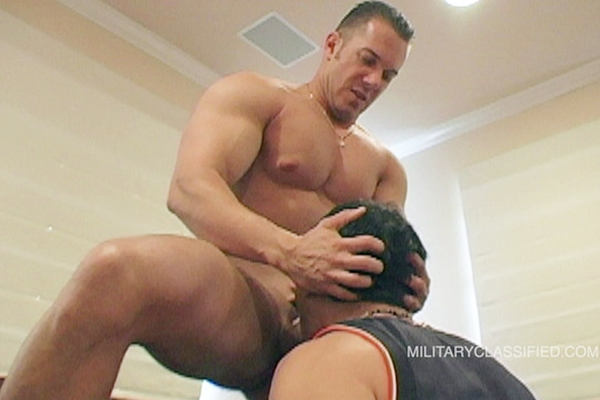 Hot straight Navy, muscle stud Reed gets serviced by a guy for the first time on camera before he gets sucked and jerked off by Rob at Militaryclassified