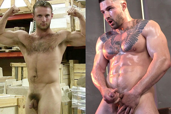 Daddy Dakota Philips, handsome hairy jock Joey and masculine inked beefcake Tim strip down and stroke their cocks until they blow their loads at Theguysite