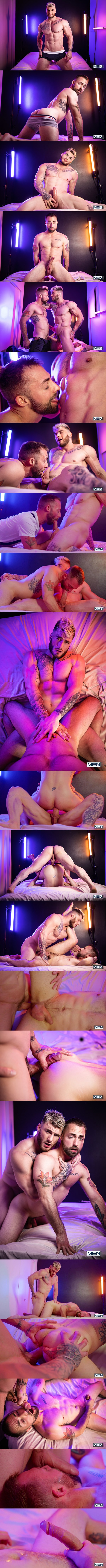Handsome Canadian beefcake William Seed barebacks bearded stud Jeremy London hard and deep before he cums on Jeremy's face in Hooking Up With William Seed at Men 01