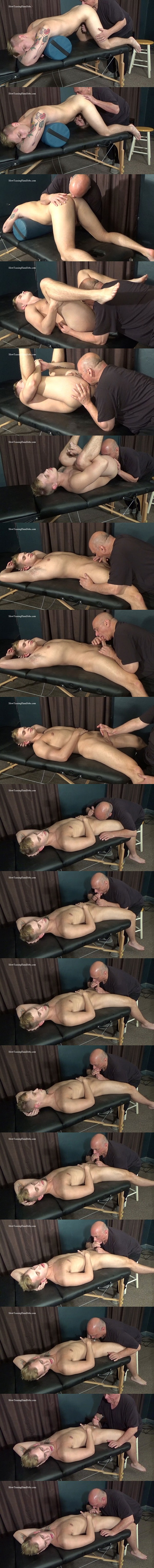 Fit straight jock Hunter (aka Dustin Cross) gets rimmed and sucked by master Rich before Hunter blows his load in Rich's mouth in Hunter Rimmed and Sucked at Slowteasinghandjobs 01