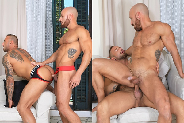 Antonio Miracle and ripped muscle hunk Samuel Redx flip fuck before they fuck the cum out of each other in Samuel's bottoming debut in Casting Couch #450 at Kristenbjorn